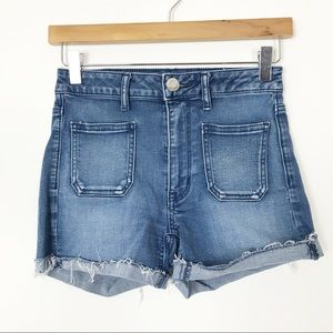 AEO Super Hi Rise Shortie Stretchy Shorts Size 2